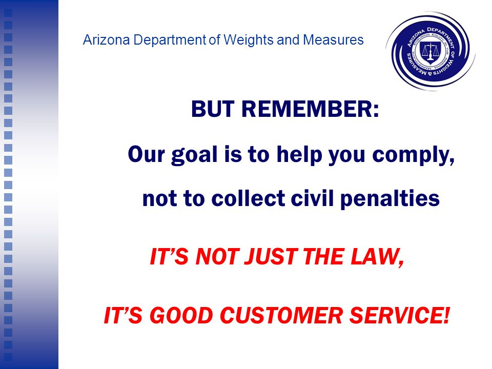 Arizona Department of Weights and Measures 4.