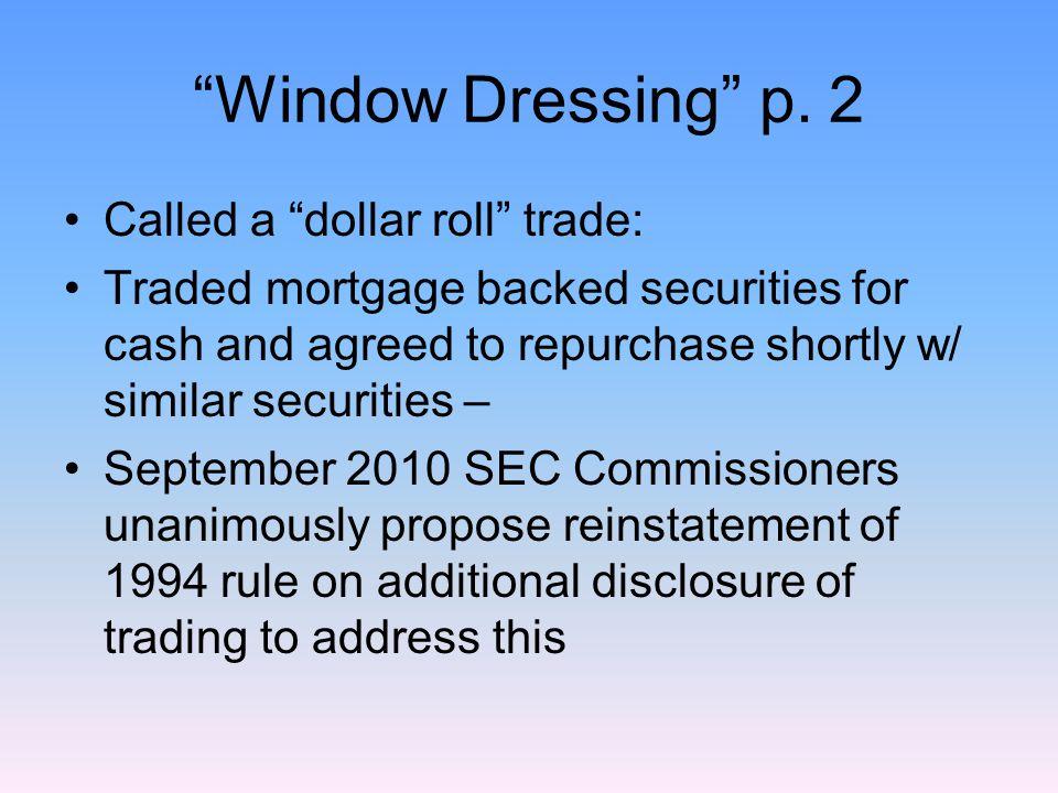 Window Dressing p.