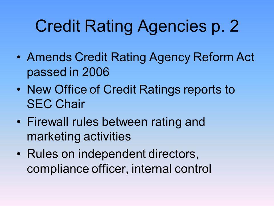 Credit Rating Agencies p.