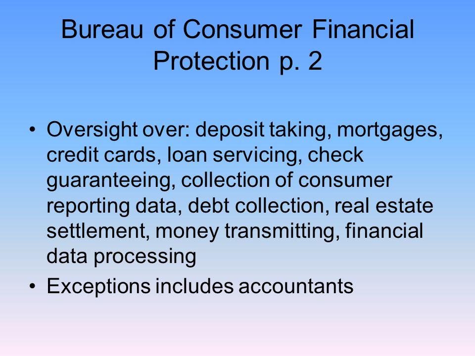 Bureau of Consumer Financial Protection p.