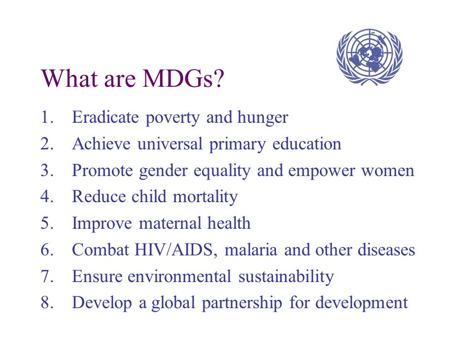 MDGs derive from a series of world conferences and global summits of the 1990s  World Conference on Education for All  World Summit for Children  U
