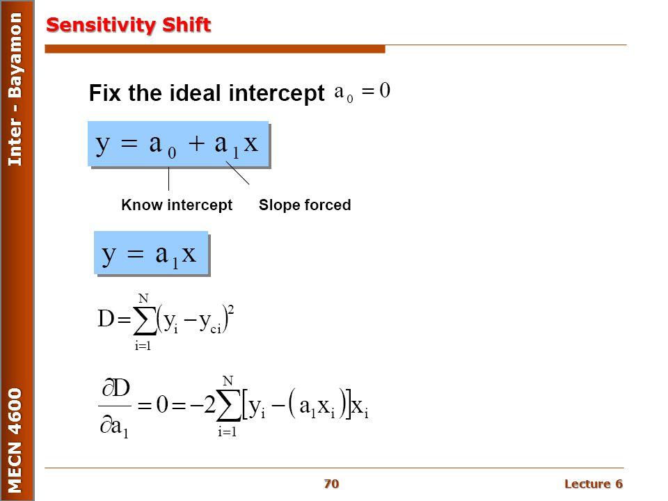Lecture 6 MECN 4600 Inter - Bayamon Sensitivity Shift 70