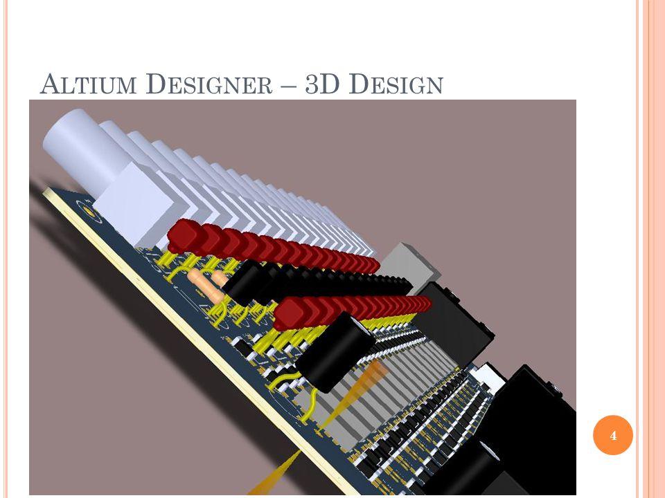 A LTIUM D ESIGNER – 3D D ESIGN 4