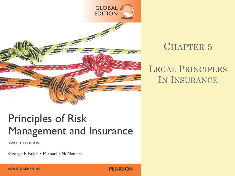 A GENDA Principle of Indemnity Principle of Insurable Interest Principle of Subrogation Principle of Utmost Good Faith Requirements of an Insurance Contract Distinct Legal Characteristics of Insurance Contracts