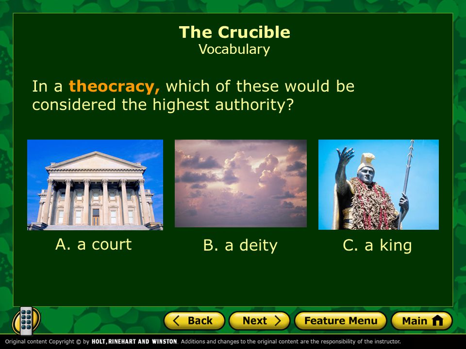 Based on its parts, what do you think the word theocracy means.