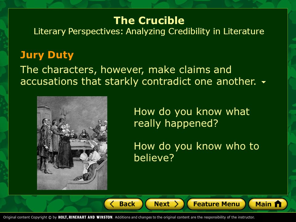 The Crucible The Crucible is based on the witch trials that took place in 1692 in Salem, Massachusetts.
