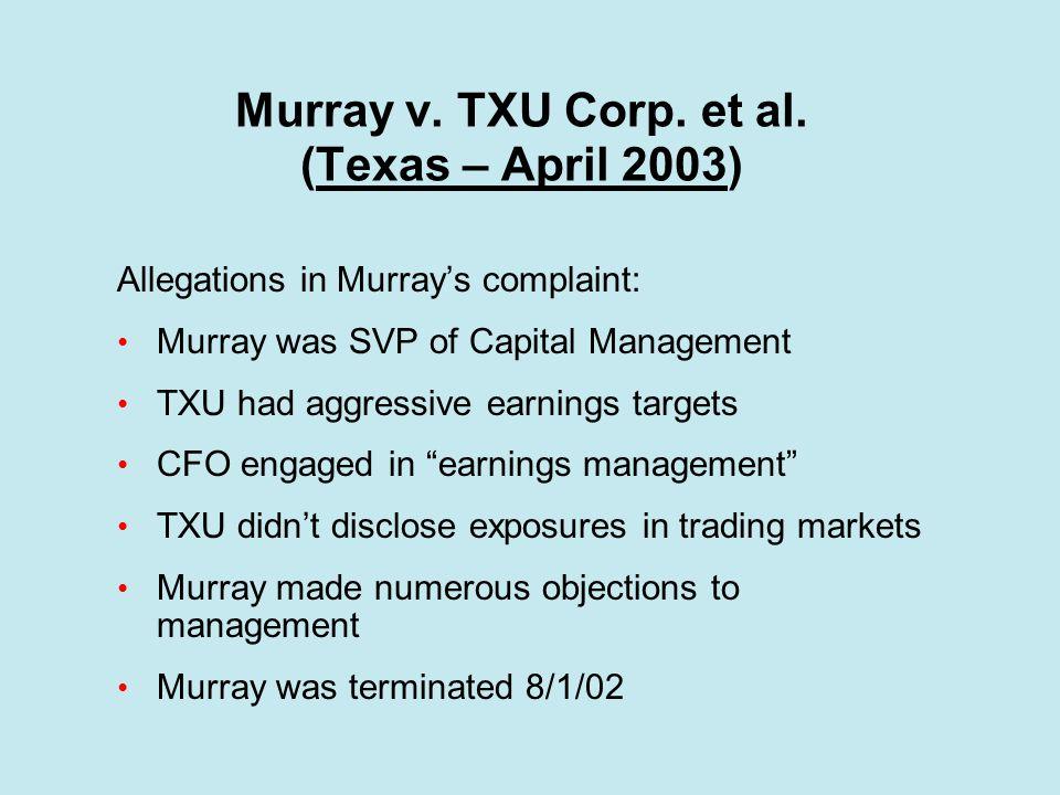 Murray v.TXU Corp. et al.