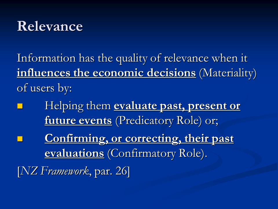 Evaluate Past, Present or Future Events This is also called Predicatory Role.