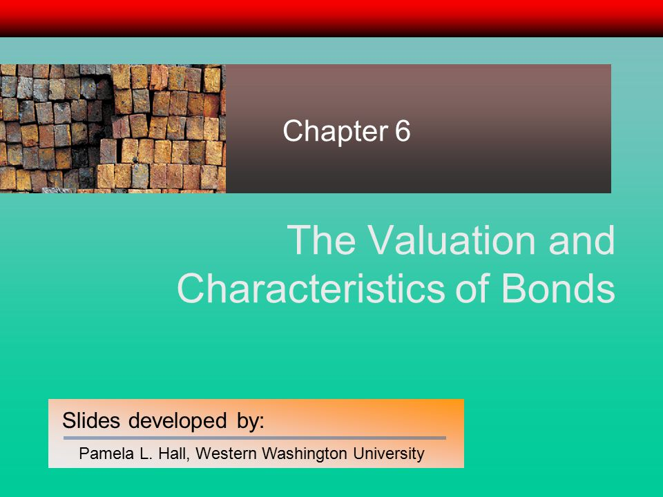 12 Determining the Price of a Bond The Bond Valuation Formula The price of a bond is the present value of a stream of interest payments plus the present value of the principal repayment