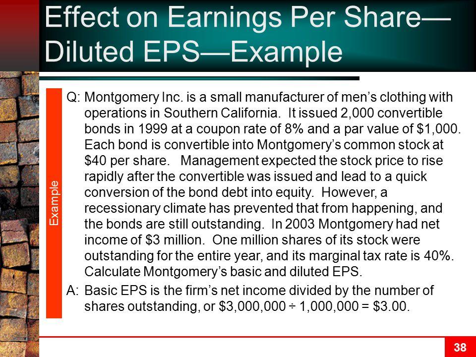 38 Example Q:Montgomery Inc.
