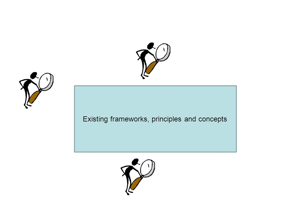 Existing frameworks, principles and concepts
