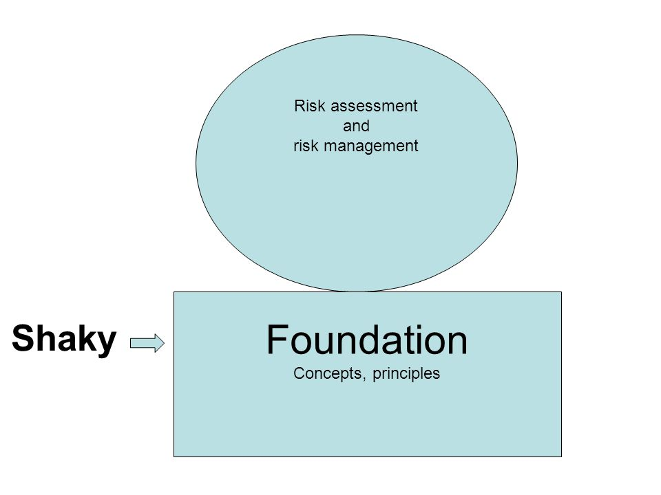 Foundation Concepts, principles Risk assessment and risk management Shaky