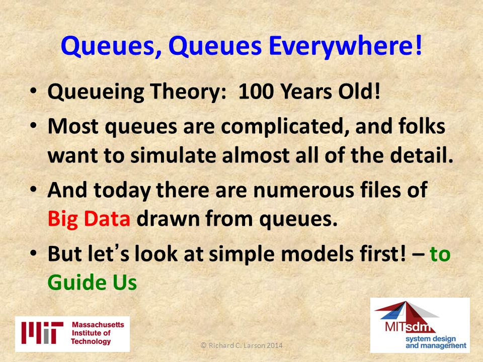 Queues, Queues Everywhere.Queueing Theory: 100 Years Old.