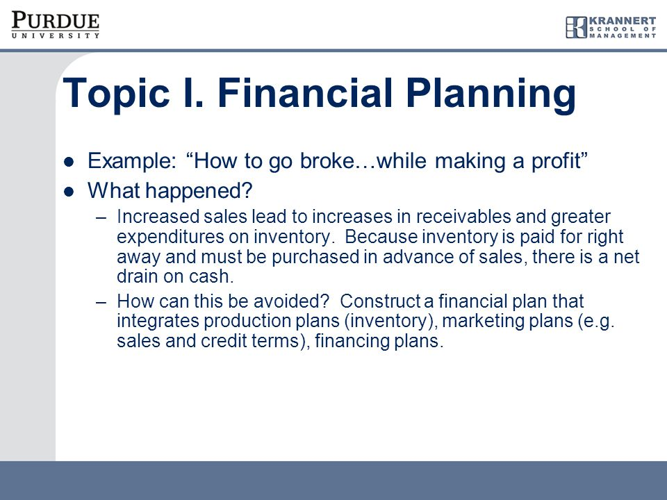 Components of financial plan Pro-forma financial statements  Income statement  Balance Sheet Outcomes  Capital needs  Future cash flows