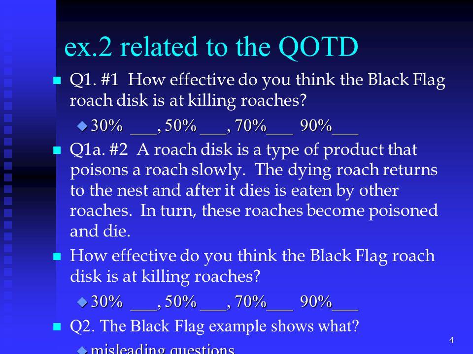 ex.2 related to the QOTD n n Q1.