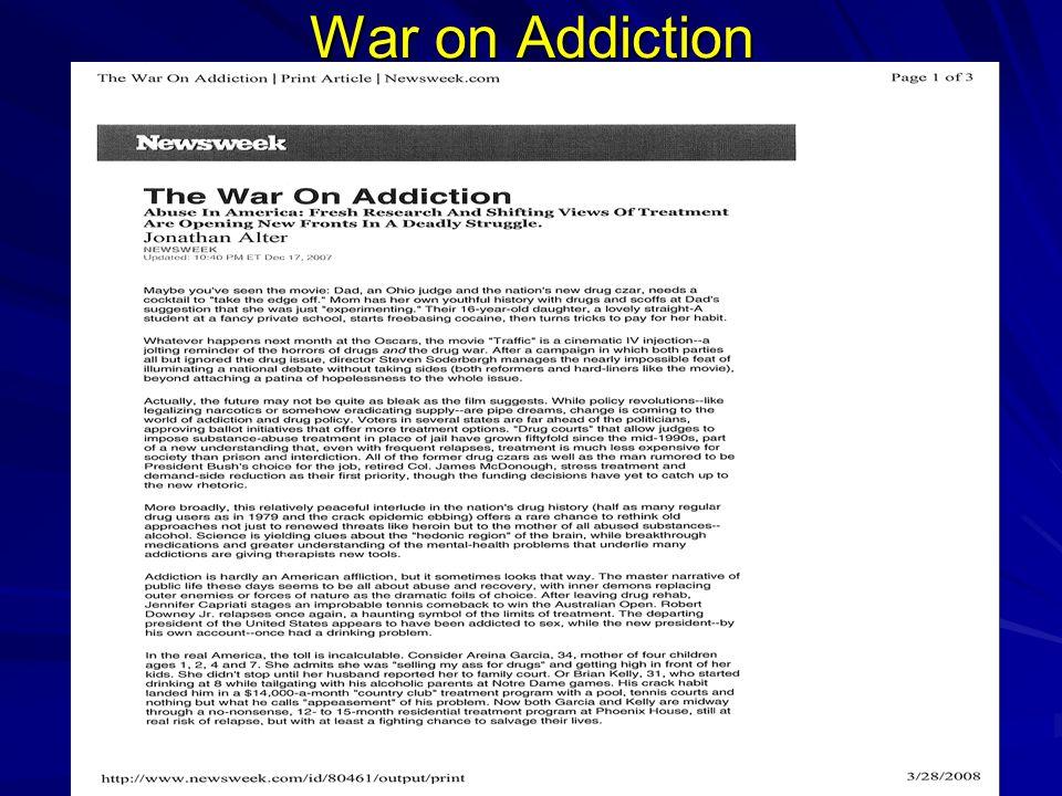 War on Addiction