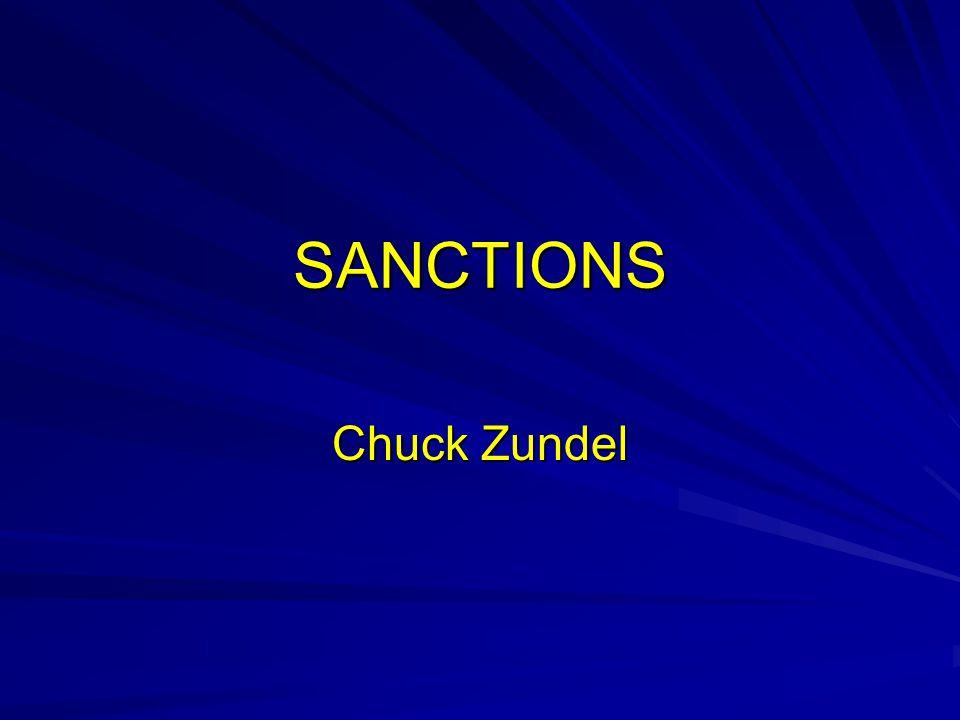SANCTIONS Chuck Zundel