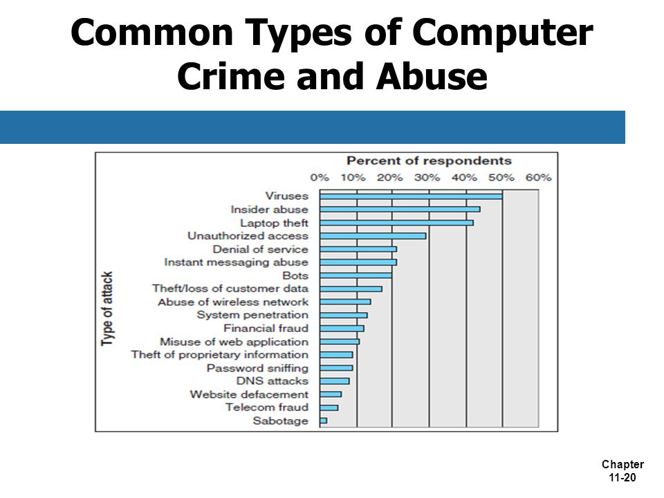 Chapter 11-20 Common Types of Computer Crime and Abuse