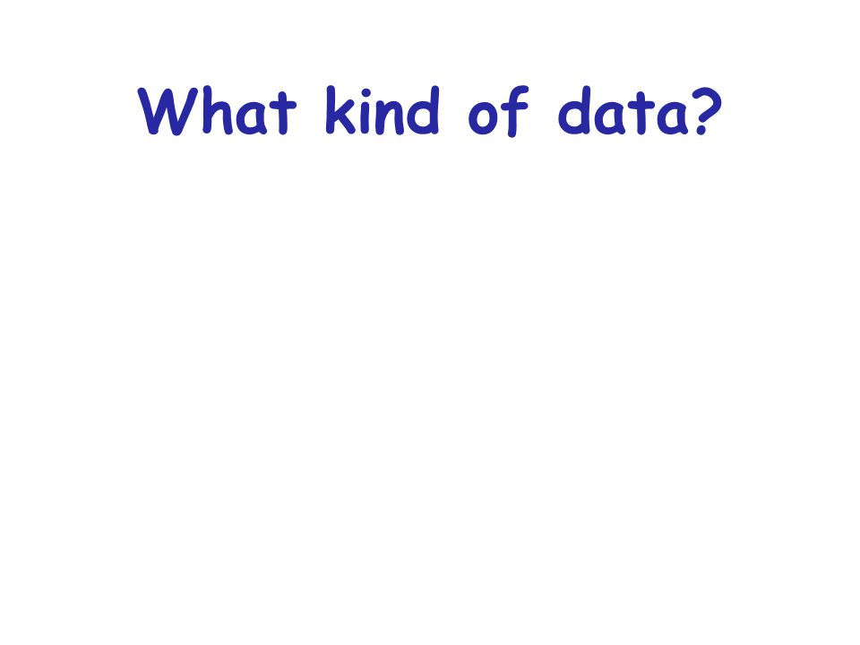 What kind of data?