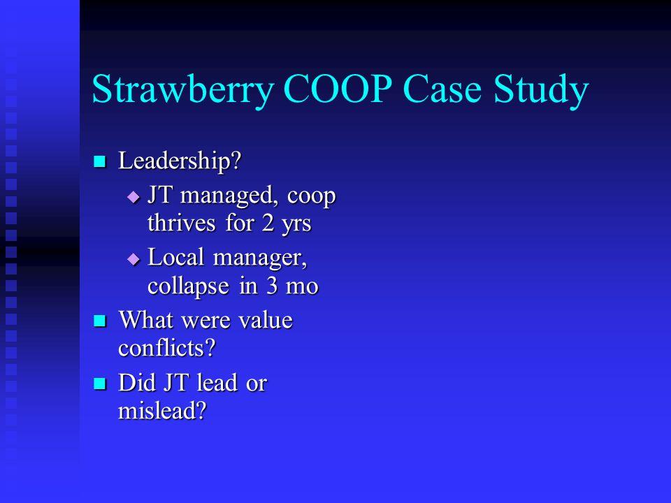 Strawberry COOP Case Study Leadership. Leadership.
