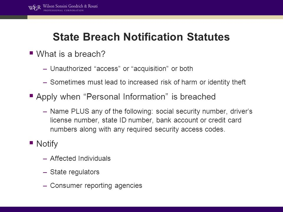  What is a breach.