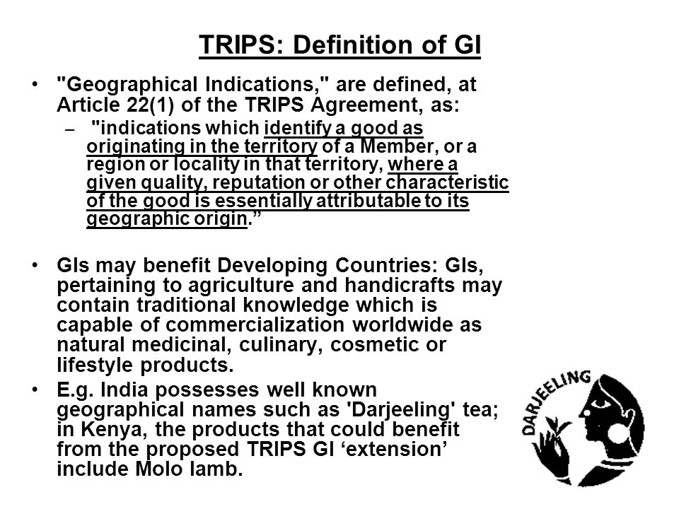 TRIPS: Definition of GI