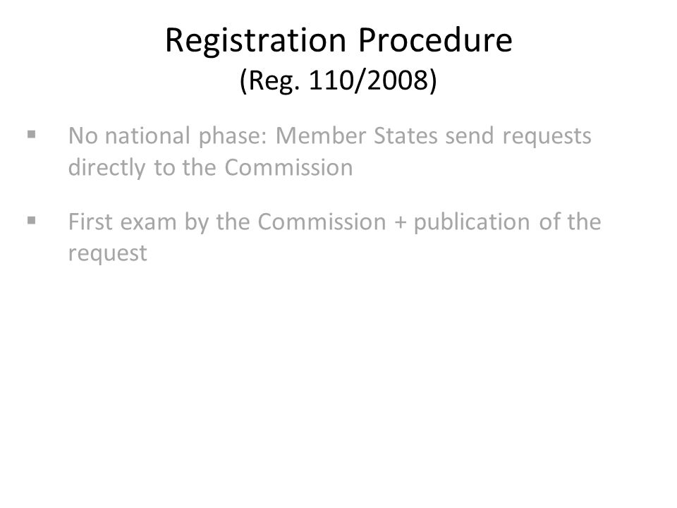 Registration Procedure (Reg.