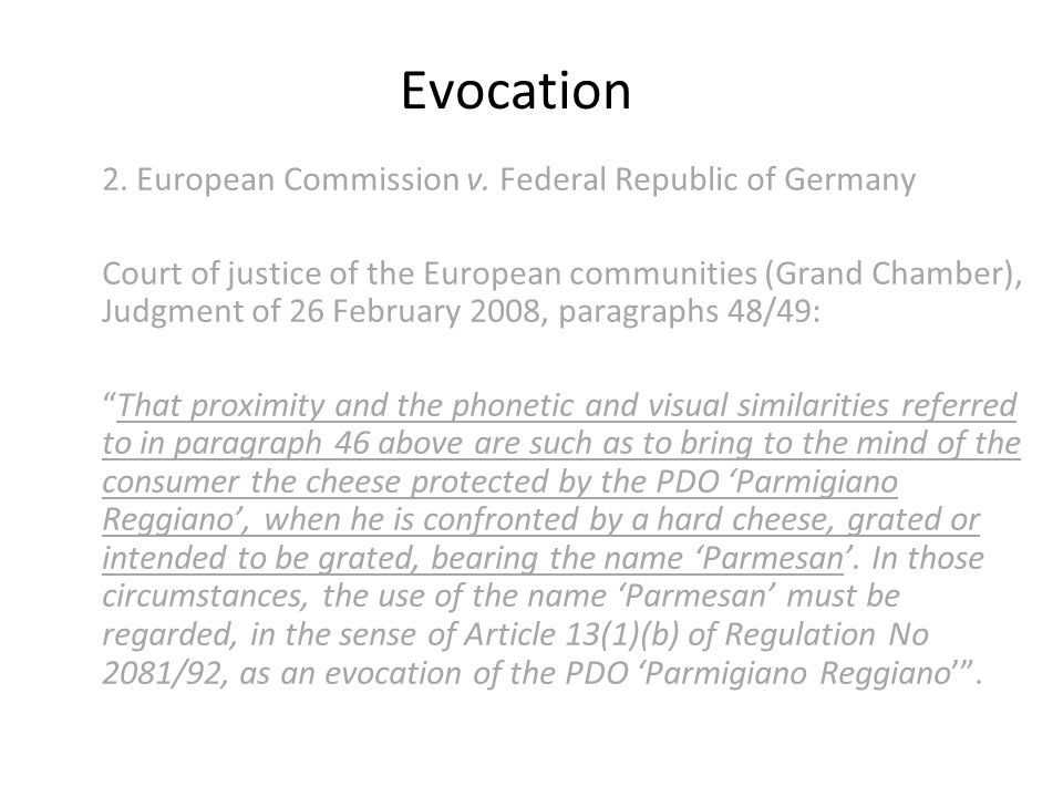 Evocation 2. European Commission v.