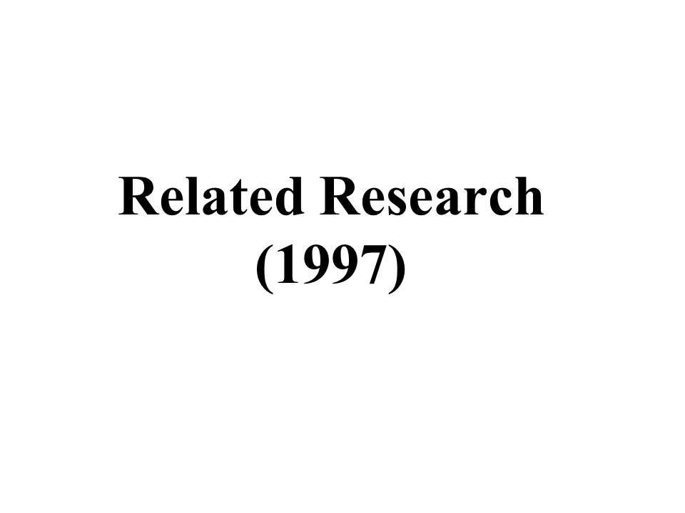 Related Research (1997)