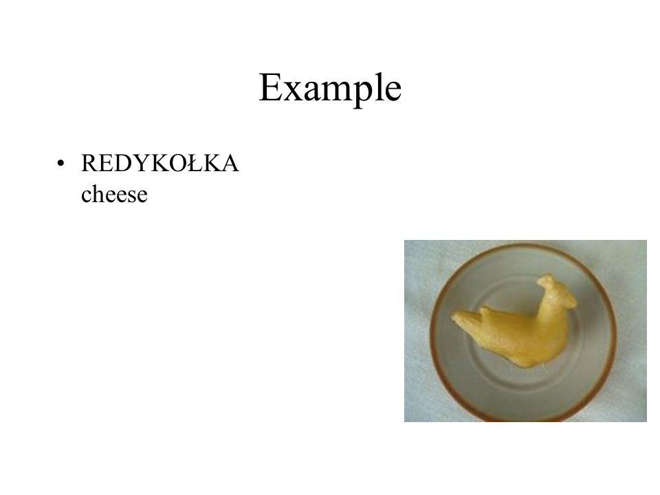 Example REDYKOŁKA cheese