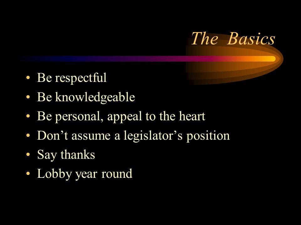 Lobbying How to lobby your legislator with … Bill Hanlon