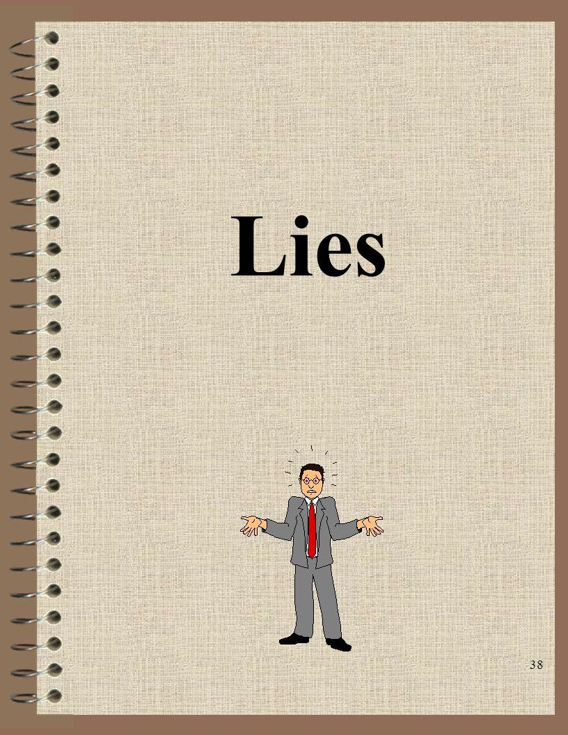 38 Lies