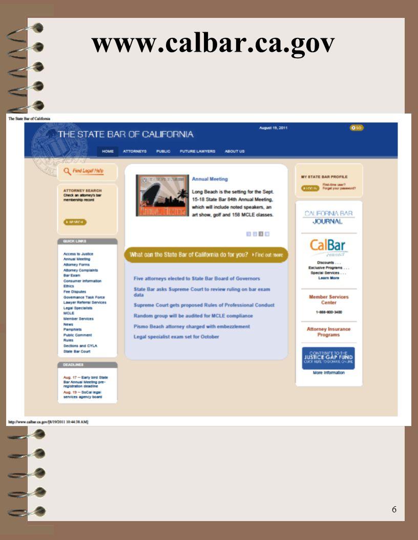 www.calbar.ca.gov 6