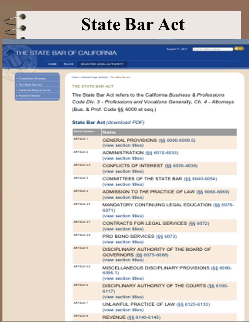 State Bar Act 8