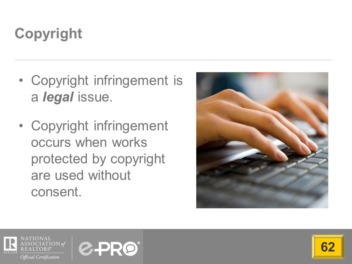 Copyright Copyright infringement is a legal issue.