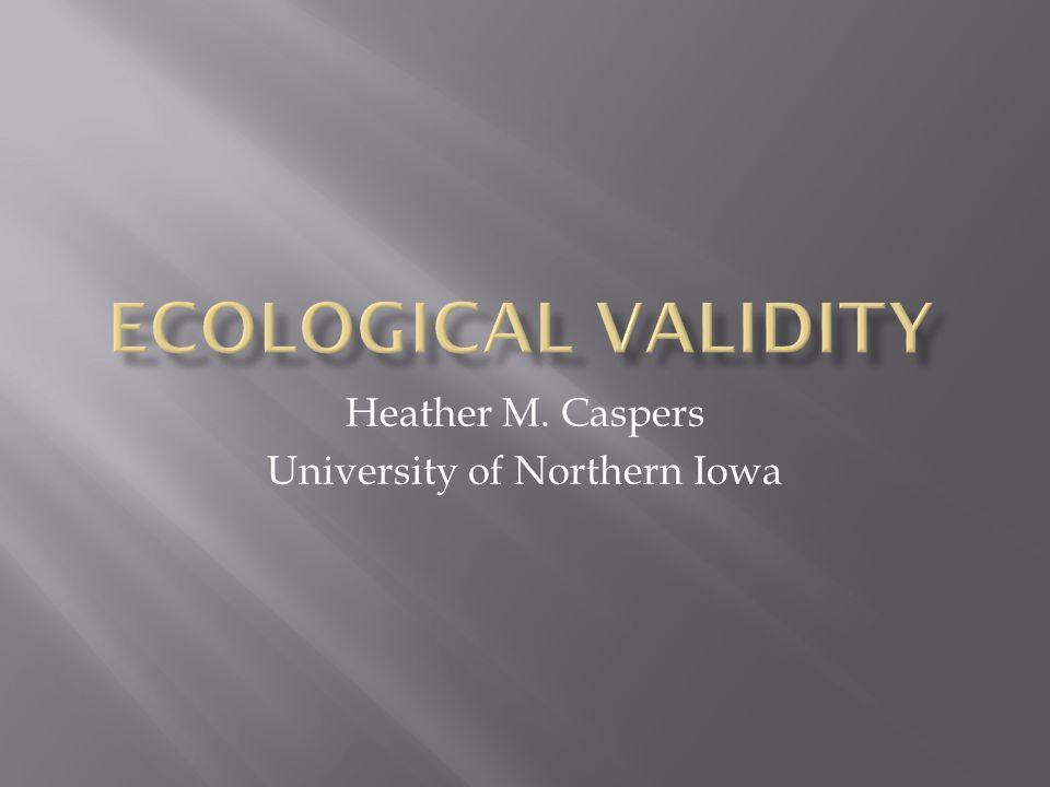 Heather M. Caspers University of Northern Iowa
