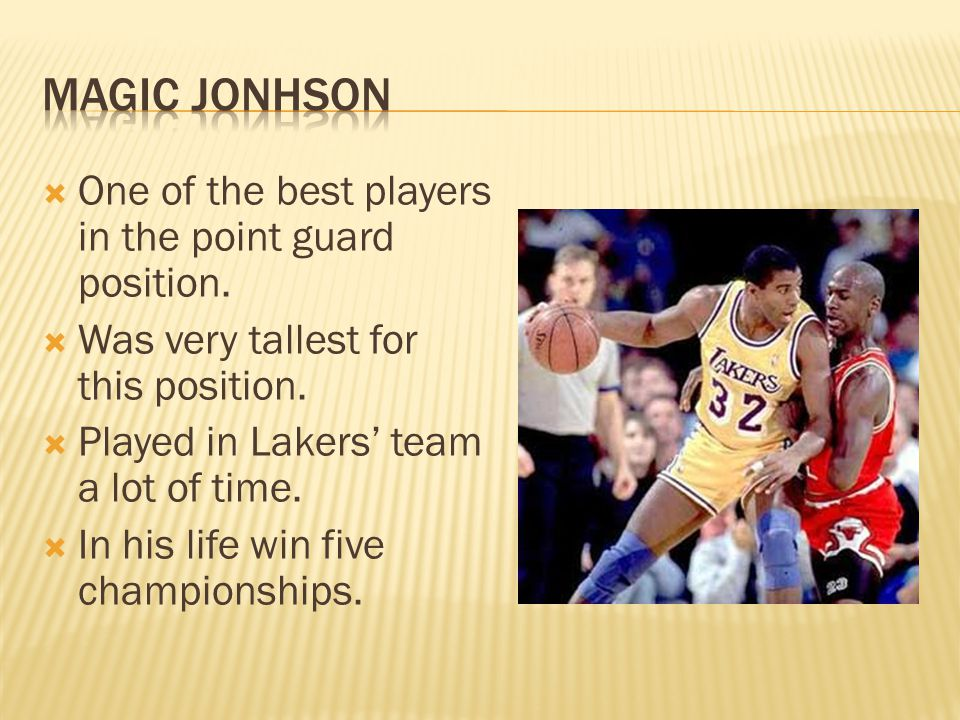  One of the best players in the point guard position.