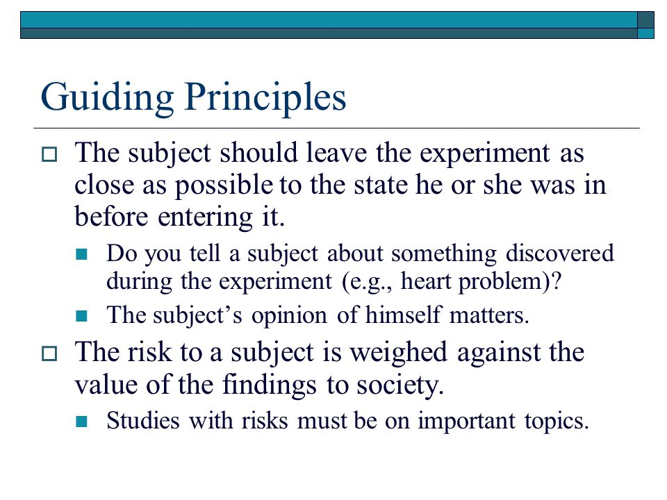 Sample Ethical Controversies  Should subjects be paid for their participation.