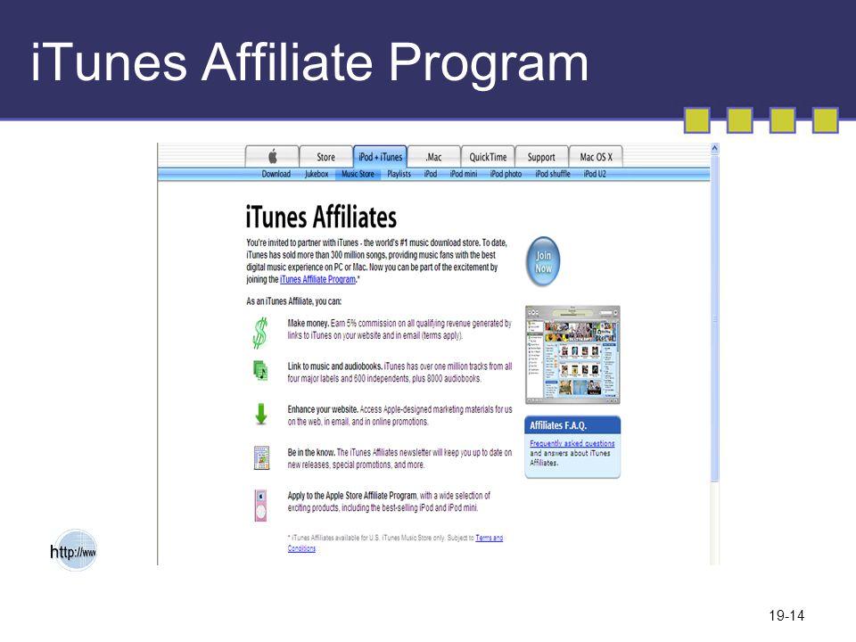 19-14 iTunes Affiliate Program