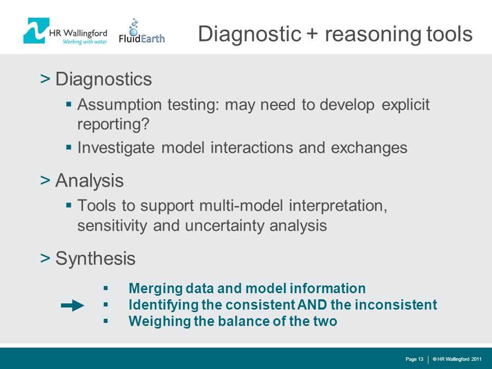 Diagnostic + reasoning tools >Diagnostics  Assumption testing: may need to develop explicit reporting.