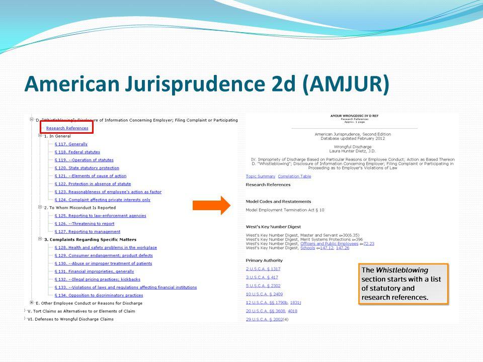American Jurisprudence 2d (AMJUR)