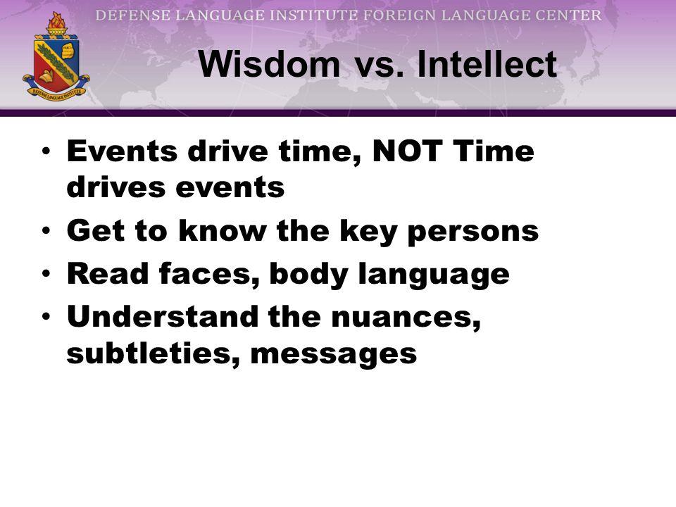 Wisdom vs.