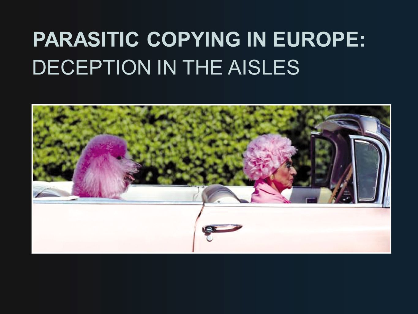 PARASITIC COPYING IN EUROPE: DECEPTION IN THE AISLES