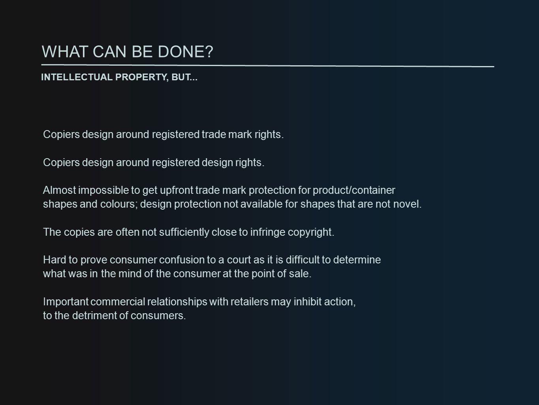 Copiers design around registered trade mark rights.