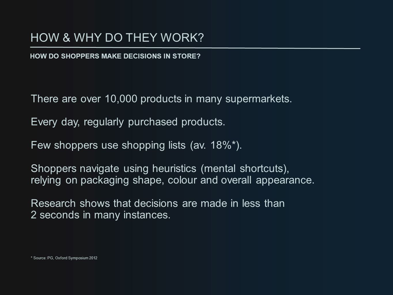 There are over 10,000 products in many supermarkets.
