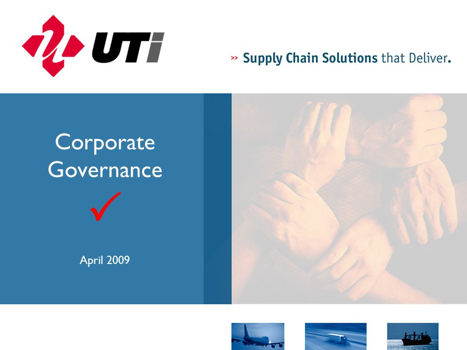 Corporate Governance  April 2009