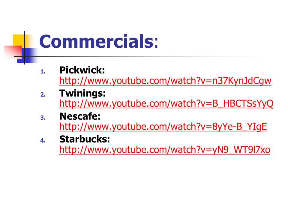 Commercials: 1.