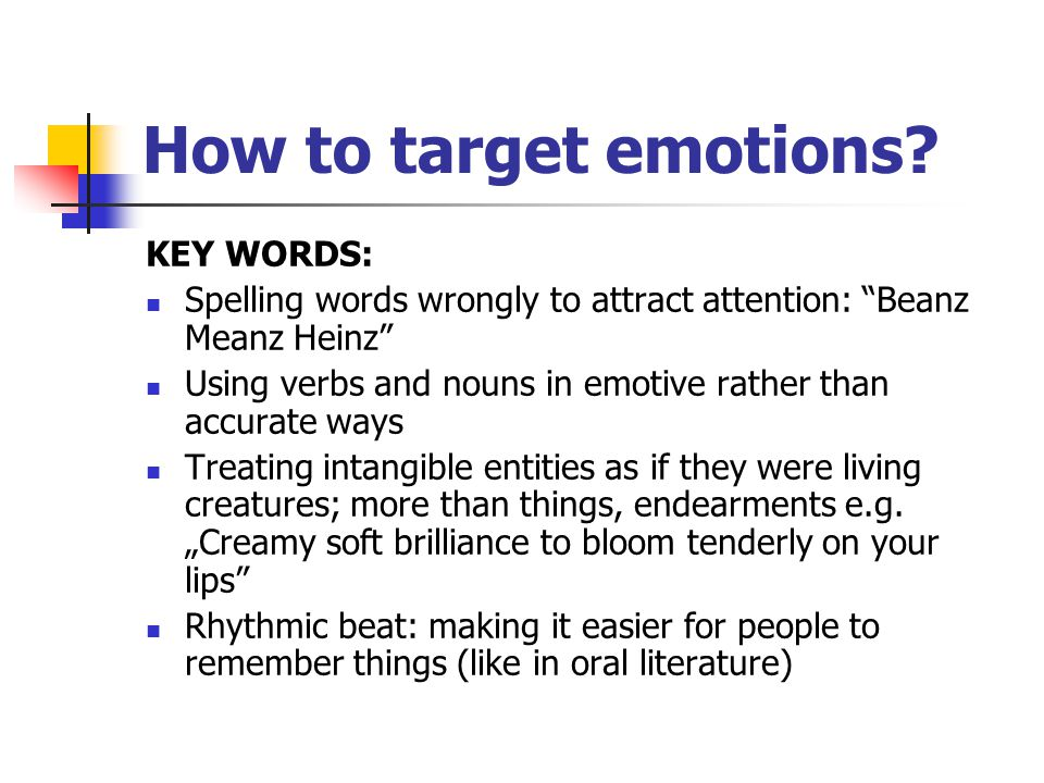 How to target emotions.