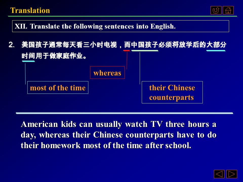 Translation 1.