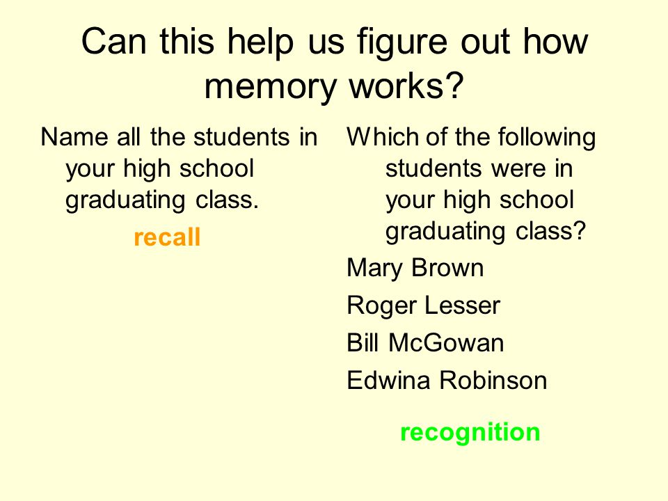 Can this help us figure out how memory works.